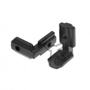 Black Hidden Corner L-Brackets for 3030 Aluminium Extrusion