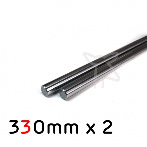 Pair of 330mm PSFU 8mm rods for Prusa by Misumi