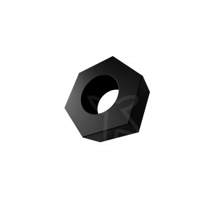 M3 Hex Nut [10 Pack] by MISUMI | Black