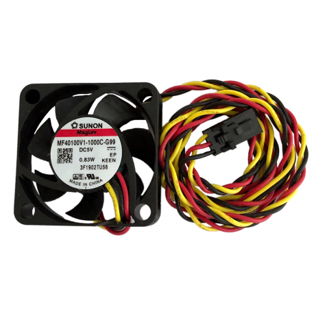 Sunon 5V 40mm x 40mm fan with 65cm cable + connector