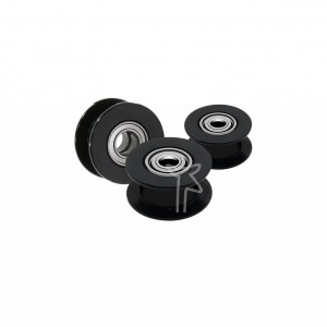 6mm GT2 20T Toothless Black...
