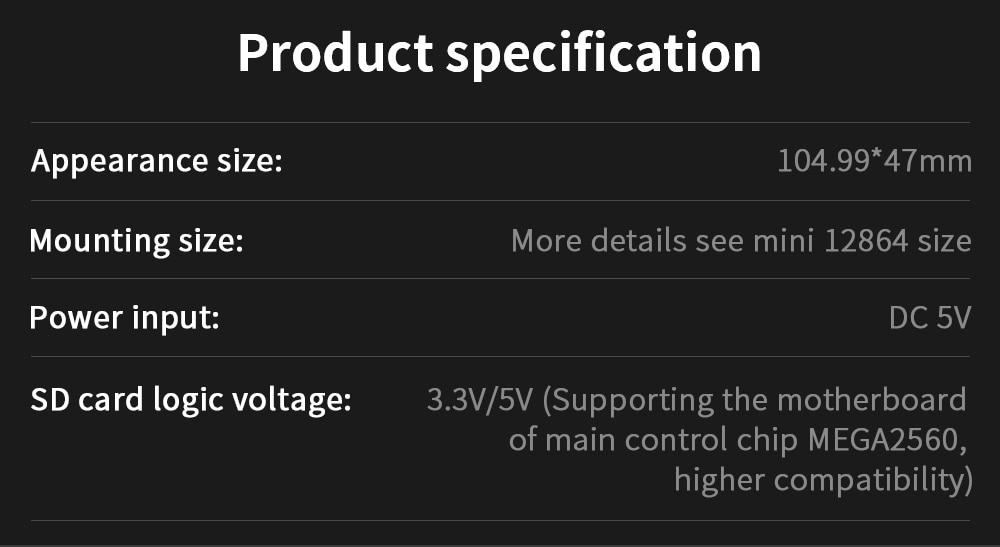 bigtreetech 12864 Mini LCD display for 3d printers